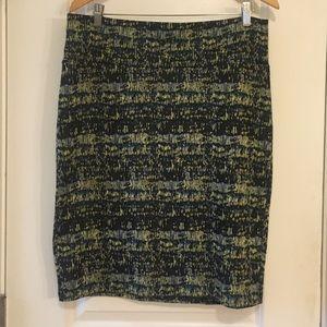 Lularoe Cassie Green Pencil Skirt XL